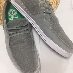Sanuk canvas and suede lace up shoe
